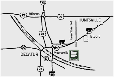 Huntsville / Decatur Map