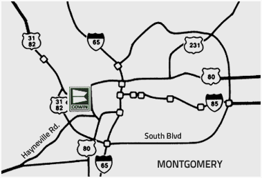 Montgomery, AL directions to Cowin Equipment Company